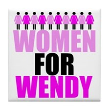 Women for Wendy Davis Tile Coaster