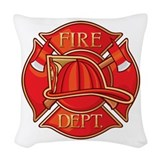 Firefighting shower curtains Woven Pillows