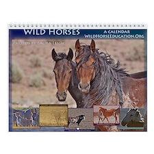 Wall Calendar Wild Horses