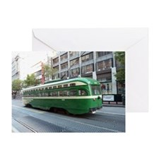 San Francisco Street Car Photo Trans Greeting Card