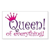 Queen of Everthing! Rectangle  Aufkleber