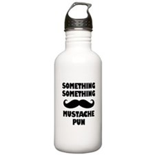 Mustache Pun Water Bottle