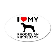 I Love My Dog Rhodesian Ridgeback Wall Decal