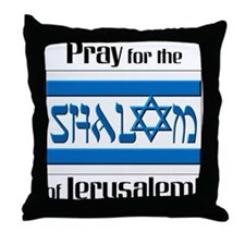 Pray Shalom of Jerusalem Throw Pillow
