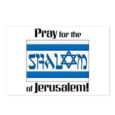 Pray Shalom of Jerusalem Postcards (Package of 8)