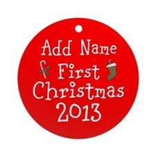 Baby's 1st Christmas 2013 Ornament (Round)