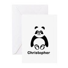 Personalized Panda Bear Greeting Cards