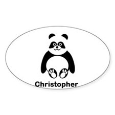 Personalized Panda Bear Decal