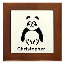 Personalized Panda Bear Framed Tile