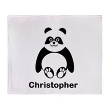 Personalized Panda Bear Throw Blanket