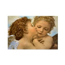 First Kiss by Bouguereau Magnets