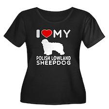 I Love My Dog Polish Lowland Sheep Dog T