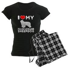 I Love My Dog Polish Lowland Sheep Dog Pajamas