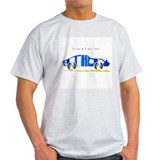 Anthony blue car Ash Grey T-Shirt