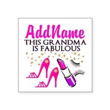 "FABULOUS GRANDMA Square Sticker 3"" x 3"""