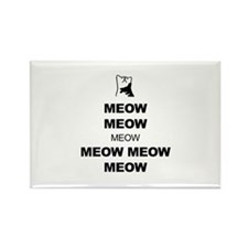 Keep Calm (Cat Meow) Rectangle Magnet (10 pack)