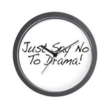 No To Drama Wall Clock