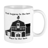What happens in the barn Small Mug