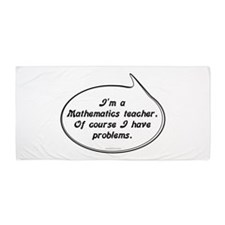 Math Teacher Pun Beach Towel