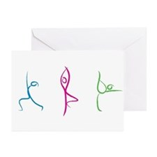 Yoga Pose Greeting Cards (Pk Of 10)