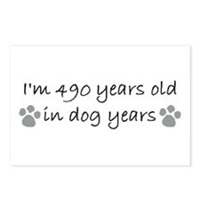70 dog years 2-2.JPG Postcards (Package of 8)