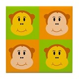 Monkey Pop Art Tile Coaster