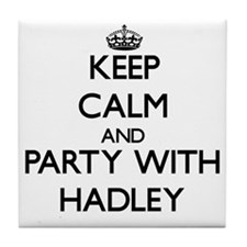 Keep Calm and Party with Hadley Tile Coaster