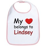 My heart belongs to lindsey Bib