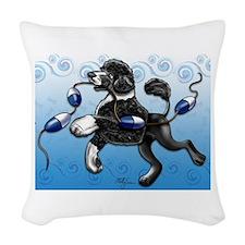 Portuguese Water Dog Woven Throw Pillow