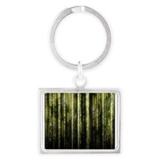 Digital Rain - Yellow Landscape Keychain