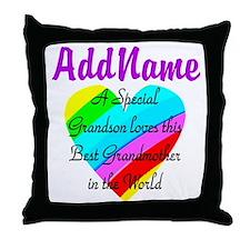 LOVE MY GRANNY Throw Pillow