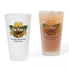 Personalized Name Irish Pub Drinking Glass