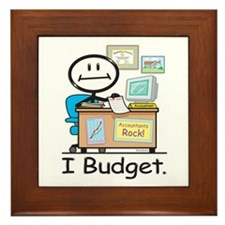 Accountant Budget Framed Tile