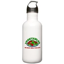 Vegetables Are What Real Food Eats Water Bottle