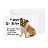Bulldog birthday Greeting Cards