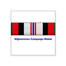 Afghanistan Campaign Medal Rectangle Sticker