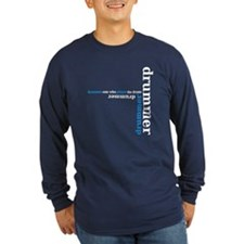 drummer - blue Long Sleeve T-Shirt