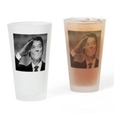 Ronald Reagan Salutes Drinking Glass