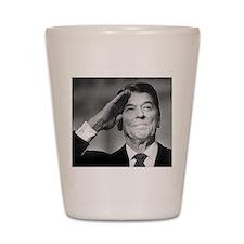Ronald Reagan Salutes Shot Glass