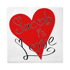 is_love_jacob Queen Duvet