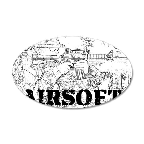 airsoft 010 35x21 Oval Wall Decal