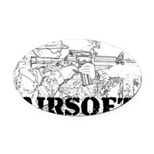 airsoft 010 Oval Car Magnet