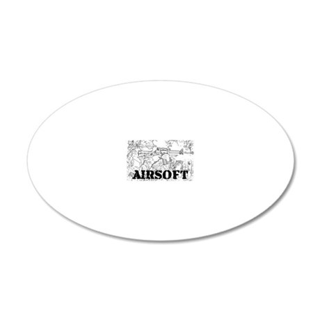 airsoft 010 20x12 Oval Wall Decal