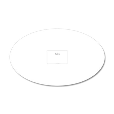 ShalomASLstuffInside 20x12 Oval Wall Decal