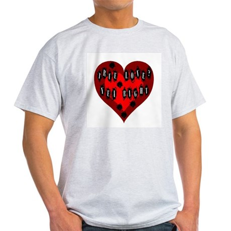Holes in Heart Ash Grey T-Shirt