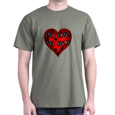 Holes in Heart Dark T-Shirt