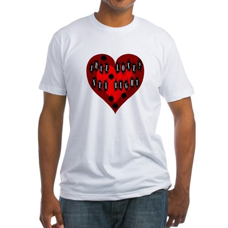 Holes in Heart Fitted T-Shirt