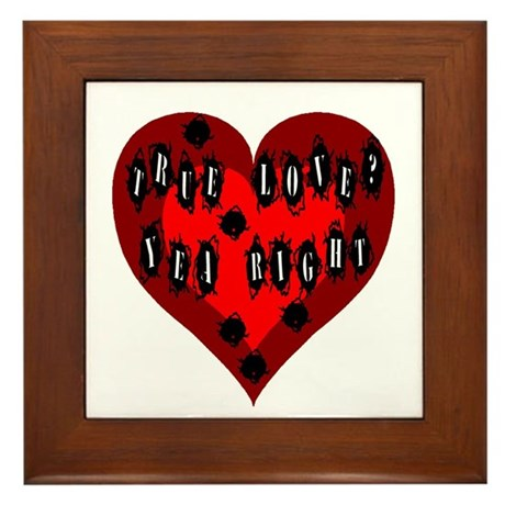 Holes in Heart Framed Tile