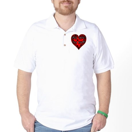 Holes in Heart Golf Shirt