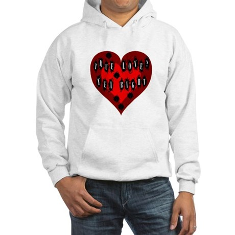 Holes in Heart Hooded Sweatshirt